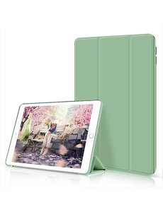 Ntech iPad Air 2020 Hoes - iPad hoes 2020 - iPad Air 4 10.9 Bookcase - Trifold Smart hoesje Groen