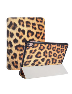 Ntech iPad Air 2020 Hoes - iPad hoes 2020 - iPad Air 4 10.9 Bookcase - Trifold Smart Luipaard hoesje