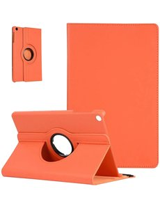 Ntech Samsung Tab A7 Hoes bookcase (2020) - Galaxy Tab A7 10.4 360 draaibare Hoesje - Oranje