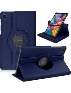 Ntech Samsung Tab A7 Lite Hoes bookcase  - Galaxy Tab A7 Lite hoes 8.7 360 draaibare case Hoesje - Donker Blauw