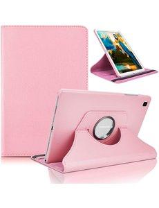 Ntech Samsung Tab A7 Lite Hoes bookcase  - Galaxy Tab A7 Lite hoes 8.7 360 draaibare case Hoesje - Licht Rose