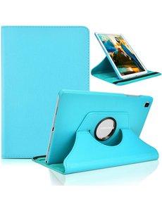 Ntech Samsung Tab A7 Lite Hoes bookcase  - Galaxy Tab A7 Lite hoes 8.7 360 draaibare case Hoesje - Licht Blauw