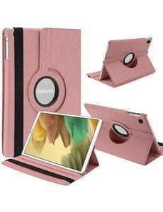 Ntech Samsung Tab A7 Lite Hoes bookcase  - Galaxy Tab A7 Lite hoes 8.7 360 draaibare case Hoesje - Rose Goud