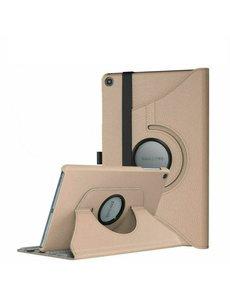 Ntech Samsung Tab A7 Lite Hoes bookcase  - Galaxy Tab A7 Lite hoes 8.7 360 draaibare case Hoesje - Goud