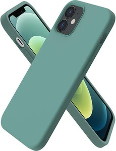 Ntech iPhone 12 hoesje silicone - hoesje iPhone 12 Pro case  - Nano Liquid siliconen Backcover - Pine Groen