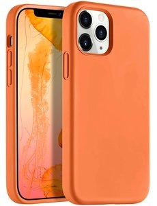 Ntech iPhone 12 Pro Max hoesje silicone - hoesje iPhone 12 Pro Max case  - Nano Liquid siliconen Backcover - Oranje