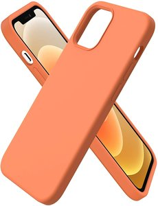 Ntech iPhone 12 Mini hoesje silicone - hoesje iPhone 12 Mini case  - Nano Liquid siliconen Backcover - Oranje