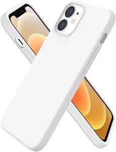 Ntech iPhone 12 Mini hoesje silicone - hoesje iPhone 12 Mini case  - Nano Liquid siliconen Backcover - Wit