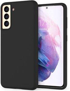Hoesje Samsung S21 silicone - Samsung Galaxy S21 hoesje Zwart - Cover s21 - hoesje S21 Nano Liquid siliconen Backcover