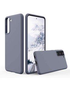 Ntech Hoesje Samsung S21 silicone - Samsung Galaxy S21 hoesje Lavender   - Cover s21 - hoesje S21 Nano Liquid siliconen Backcover