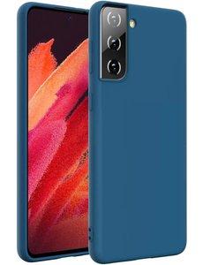 Ntech Samsung S21 Plus hoesje - S21 Plus hoesje Navy - Samsung Galaxy S21 Plus hoesje Nano Liquid siliconen Backcover- hoesje Samsung S21 Plus
