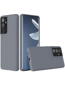 Ntech Samsung S21 Ultra hoesje - S21 Ultra hoesje Lavender - Samsung Galaxy S21 Ultra hoesje Nano Liquid siliconen Backcover- hoesje Samsung S21 Ultra