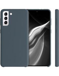 Ntech Samsung S21 Ultra hoesje - S21 Ultra hoesje Dark Grijs - Samsung Galaxy S21 Ultra hoesje Nano Liquid siliconen Backcover- hoesje Samsung S21 Ultra