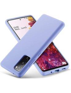 Ntech Samsung S20 fe hoesje - S20 fe hoesje Donker Paars - Samsung Galaxy S20 fe hoesje Nano Liquid siliconen Backcover- hoesje Samsung S20 fe