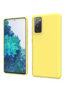 Ntech Samsung S20 fe hoesje - S20 fe hoesje Geel - Samsung Galaxy S20 fe hoesje Nano Liquid siliconen Backcover- hoesje Samsung S20 fe
