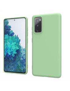 Ntech Samsung S20 fe hoesje - S20 fe hoesje Groen - Samsung Galaxy S20 fe hoesje Nano Liquid siliconen Backcover- hoesje Samsung S20 fe