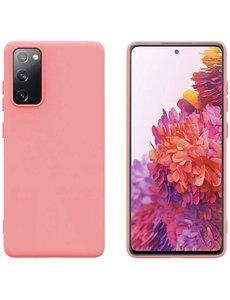 Ntech Samsung S20 fe hoesje - S20 fe hoesje Licht Roze - Samsung Galaxy S20 fe hoesje Nano Liquid siliconen Backcover- hoesje Samsung S20 fe