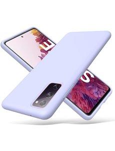 Ntech Samsung S20 fe hoesje - S20 fe hoesje Lila - Samsung Galaxy S20 fe hoesje Nano Liquid siliconen Backcover- hoesje Samsung S20 fe