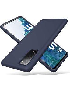 Ntech Samsung S20 fe hoesje - S20 fe hoesje Navy - Samsung Galaxy S20 fe hoesje Nano Liquid siliconen Backcover- hoesje Samsung S20 fe