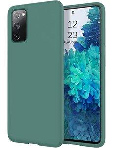 Ntech Samsung S20 fe hoesje - S20 fe hoesje Pine Groen - Samsung Galaxy S20 fe hoesje Nano Liquid siliconen Backcover- hoesje Samsung S20 fe