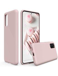 Ntech Samsung S20 fe hoesje - S20 fe hoesje Pink Sand - Samsung Galaxy S20 fe hoesje Nano Liquid siliconen Backcover- hoesje Samsung S20 fe