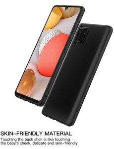Ntech Samsung A42 hoesje - A42 5G hoesje Zwart - Samsung Galaxy A42 hoesje Nano Liquid siliconen Backcover- hoesje Samsung A42