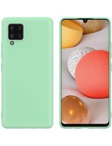 Ntech Samsung A42 hoesje - A42 5G hoesje Groen - Samsung Galaxy A42 hoesje Nano Liquid siliconen Backcover- hoesje Samsung A42