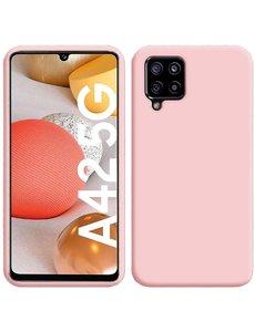 Ntech Samsung A42 hoesje - A42 5G hoesje Licht Rose - Samsung Galaxy A42 hoesje Nano Liquid siliconen Backcover- hoesje Samsung A42