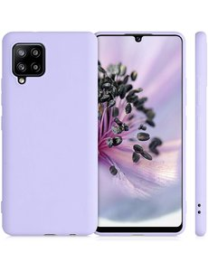 Ntech Samsung A42 hoesje - A42 5G hoesje Lila - Samsung Galaxy A42 hoesje Nano Liquid siliconen Backcover- hoesje Samsung A42