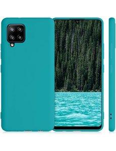 Ntech Samsung A42 hoesje - A42 5G hoesje Pine Groen - Samsung Galaxy A42 hoesje Nano Liquid siliconen Backcover- hoesje Samsung A42