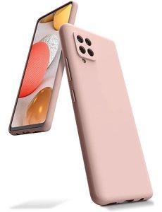 Ntech Samsung A42 hoesje - A42 5G hoesje Pink Sand - Samsung Galaxy A42 hoesje Nano Liquid siliconen Backcover- hoesje Samsung A42