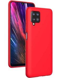 Ntech Samsung A42 hoesje - A42 5G hoesje Rood - Samsung Galaxy A42 hoesje Nano Liquid siliconen Backcover- hoesje Samsung A42