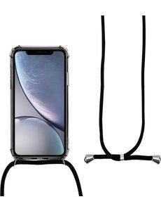 Merkloos iPhone 11 Pro Max shock hoesje met koord