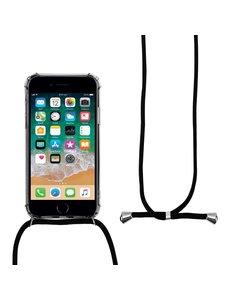 Merkloos Shock hoesje met zwart koord iPhone SE 2020