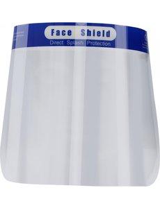 Gezichtscherm - Faceshield - Face mask - Transparant / Blauw - 1 Stuks