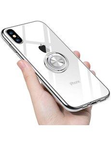 Ntech iPhone Xr hoesje 6.1 - Luxe TPU Backcover - Apple iPhone XR 6.1 hoesje met Ring houder / Ring vinger houder / standaard