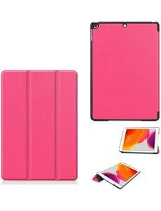 Ntech iPad 2021 Hoes - iPad 2020 Hoes – iPad 2020 hoes 10.2 – hoes iPad 2020 Pink - iPad 2019 Hoes - hoes iPad 2019 – iPad 2020 hoesje Smart boekcase Triflod - Ntech