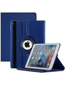 Ntech iPad 2021 hoes - iPad hoes 2021 Donker Blauw - iPad 2021 hoes 10.2 - hoes iPad 2021 - hoesje iPad 2021 - iPad 2021 case - 360° draaibare Hoes Kunstleer