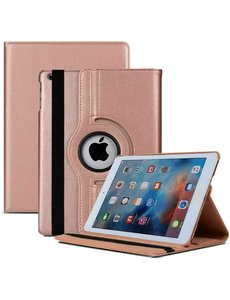 Ntech iPad 2021 hoes - iPad hoes 2021 Rose Goud - iPad 2021 hoes 10.2 - hoes iPad 2021 - hoesje iPad 2021 - iPad 2021 case - 360° draaibare Hoes Kunstleer