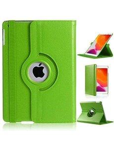 Ntech iPad 2021 hoes - iPad hoes 2021 Groen - iPad 2021 hoes 10.2 - hoes iPad 2021 - hoesje iPad 2021 - iPad 2021 case - 360° draaibare Hoes Kunstleer
