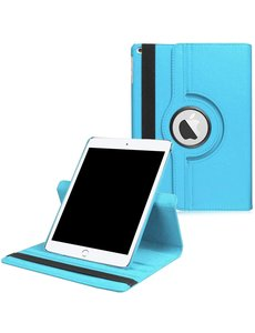 Ntech iPad 2021 hoes - iPad hoes 2021 Licht Bluaw - iPad 2021 hoes 10.2 - hoes iPad 2021 - hoesje iPad 2021 - iPad 2021 case - 360° draaibare Hoes Kunstleer