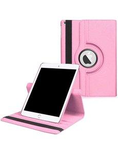 Ntech iPad 2021 hoes - iPad hoes 2021 Licht Rose - iPad 2021 hoes 10.2 - hoes iPad 2021 - hoesje iPad 2021 - iPad 2021 case - 360° draaibare Hoes Kunstleer