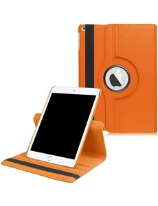 Ntech iPad 2021 hoes - iPad hoes 2021 Oranje - iPad 2021 hoes 10.2 - hoes iPad 2021 - hoesje iPad 2021 - iPad 2021 case - 360° draaibare Hoes Kunstleer
