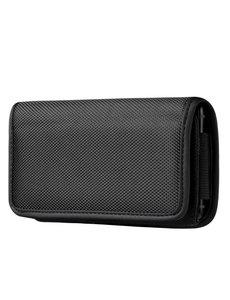 Ntech Riem Holster Hoesje - Phone Pouch hoesje Nylon Holster 4.7 Apple iPhone 13 Mini/ 12 mini 11 Pro / Xs / 8 / 7 / 6(s) Zwart