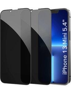 Ntech iPhone 13 Mini Privacy Screenprotector - iPhone 13 Mini Privacy Screenprotector - 2x Privacy Screenprotector iPhone 13 Mini - Privacy Glass iPhone 13 Mini 5.4 inch - Privacy Screenprotector iPhone 13 Mini - Privacy Screenprotector