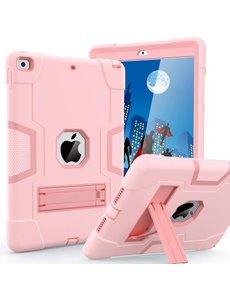 Ntech iPad 2021 Hoes - iPad 2020 hoes - Hoes iPad 2019  - iPad 10.2 hoes  - Schokbestendige Back Cover met kicktand - Hybrid Armor Case Rose Goud