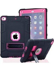 Ntech iPad 2021 Hoes - iPad 2020 hoes - Hoes iPad 2019  - iPad 10.2 hoes  - Schokbestendige Back Cover met kicktand - Hybrid Armor Case  Zwart / Mint