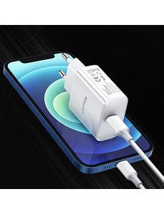Ntech oplader  iPhone 13 Mini / 12 Mini - iPhone 13 Mini / 12 Mini oplaadstekker - iPhone 13 Mini / 12 Mini oplader  usb c adapter -Ntech -20w USB C adapter apple iPhone 13 Mini / 12 Mini - Lader iPhone 13 Mini / 12 Mini