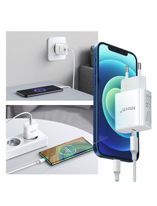 Ntech oplader  iPhone 13 Pro Max - iPhone 13 Pro Max oplaadstekker - iPhone 13 Pro Max oplader  usb c adapter -Ntech - oplaadstekker  iPhone 13 Pro Max - USB C adapter apple iPhone 13 Pro Max - Lader iPhone 13 Pro Max - apple oplader  Power Adapter 20W USB-C Sn
