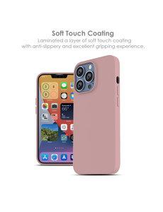 Ntech iPhone 13 hoesje - iPhone 13 hoesje Siliconen  Licht Rose - iPhone 13 case - hoesje iPhone 13 - iPhone 13 Silicone case -  hoesje - Nano Liquid Silicone Backcover